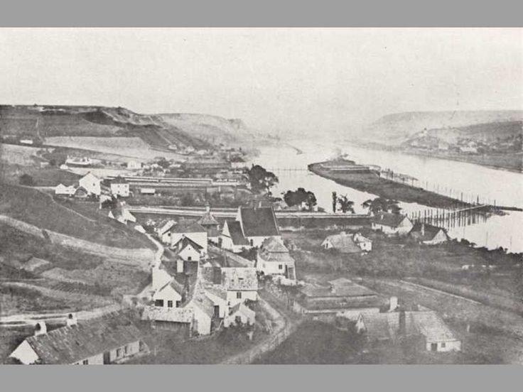 Pohled s Vyšehradu na Podolí a Schwarzenberský ostrov, 1865
