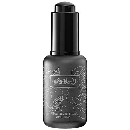 "Kat calls this her ""black rose primer detox."" It provides mattifying properties, evens out the complexion, and nourishes skin to create the perfect canvas for applying makeup and extending its wear. The extract of rose provides potent hydrating properties. A blend of natural fruit and botanical extracts soothes and hydrates skin. This product also protects skin against environmental damage and premature aging."