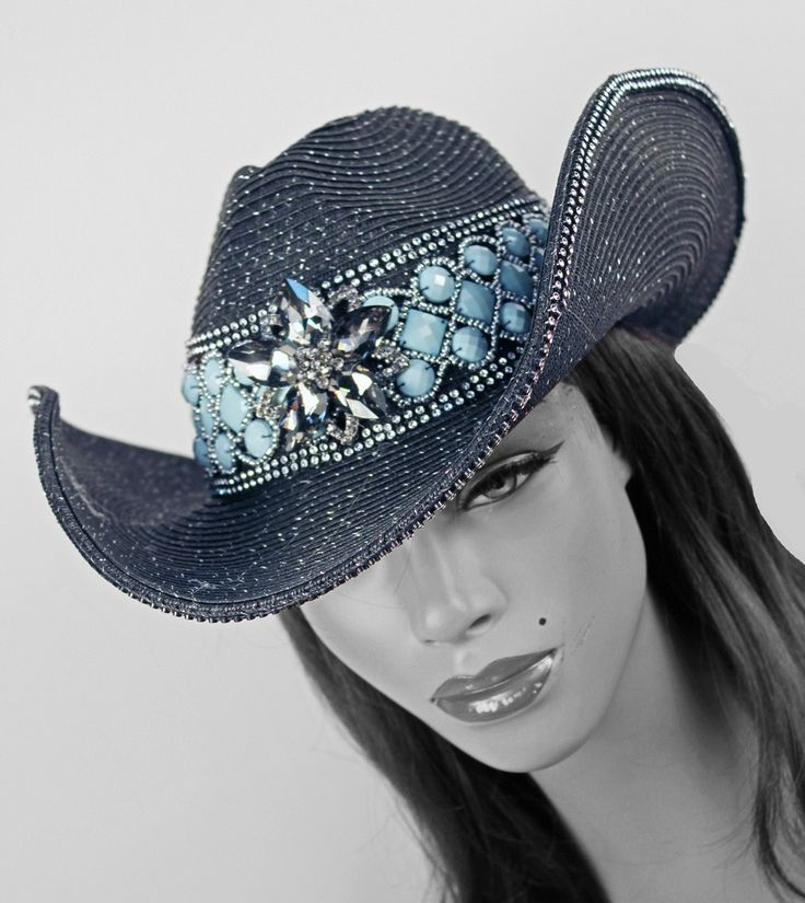 Navajo Cowgirl Hat BLACK-NAVAJO, STRAW, HAT, COWGIRL HAT