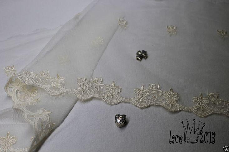 14yard Broderie Anglaise Mesh Vintage Eyelet lace trim 15.5cm ivory YH1459 laceking2013 by Laceking on Etsy