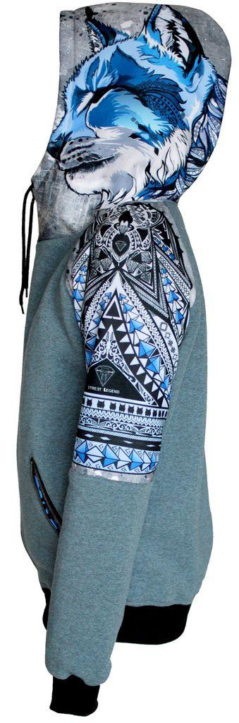 Damska bluza rozpinana z kapturem LYNX NEW STREET LEGEND Clothing Brand