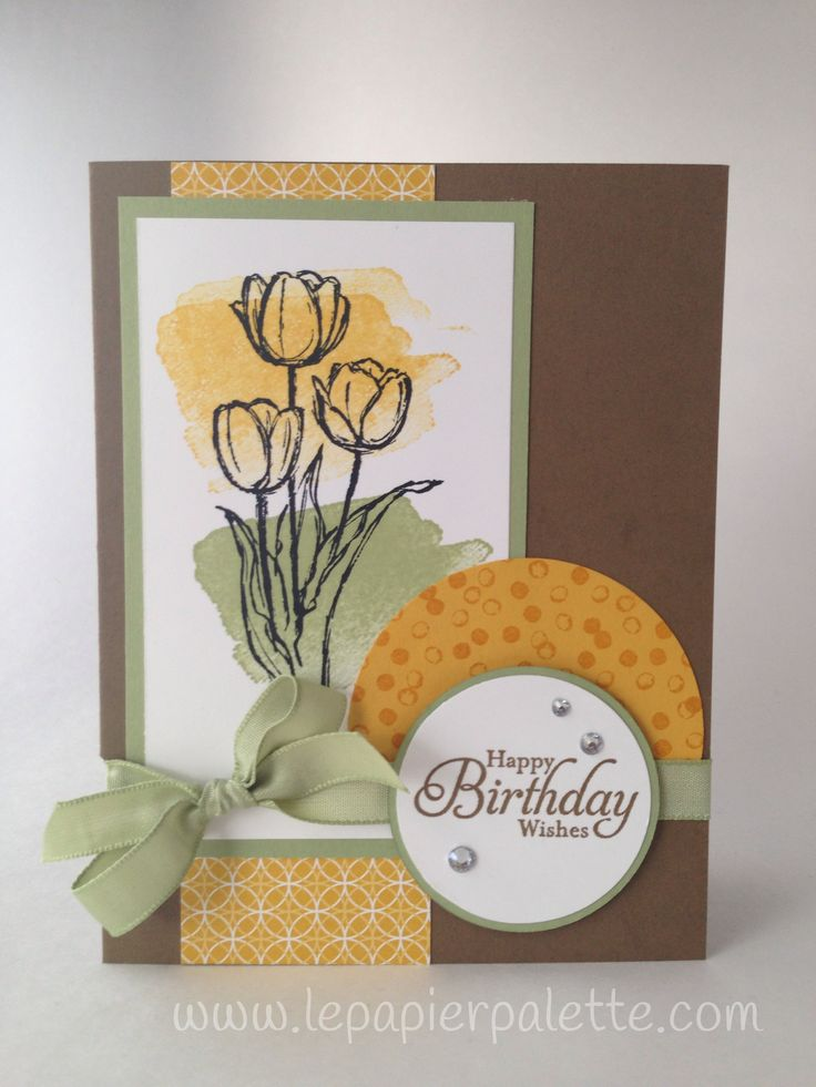 Stampin Up! Happy Watercolor, Blessed Easter, Simply Sketched.  Crushed Curry, Soft Suede, Pear Pizzazz.  By LePapierPalette