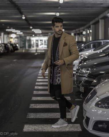 Casual Outfit from Daniel Pinheiro (@dp_style) with Only & Sons Coats, LACOSTE T-Shirts, Ralph Lauren Belts, Saint Laurent Jeans, LACOSTE Sneakers