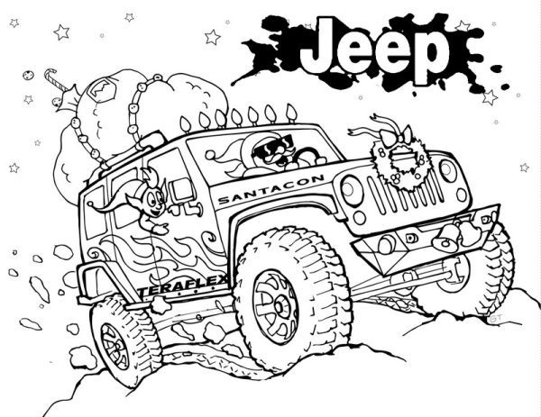 Jeep Coloring Pages Printable Monster Coloring Pages Mermaid