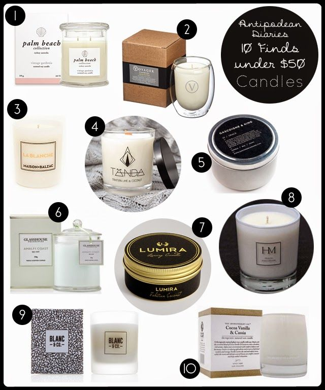 Antipodean Diaries: 10 FINDS UNDER $50: CANDLES