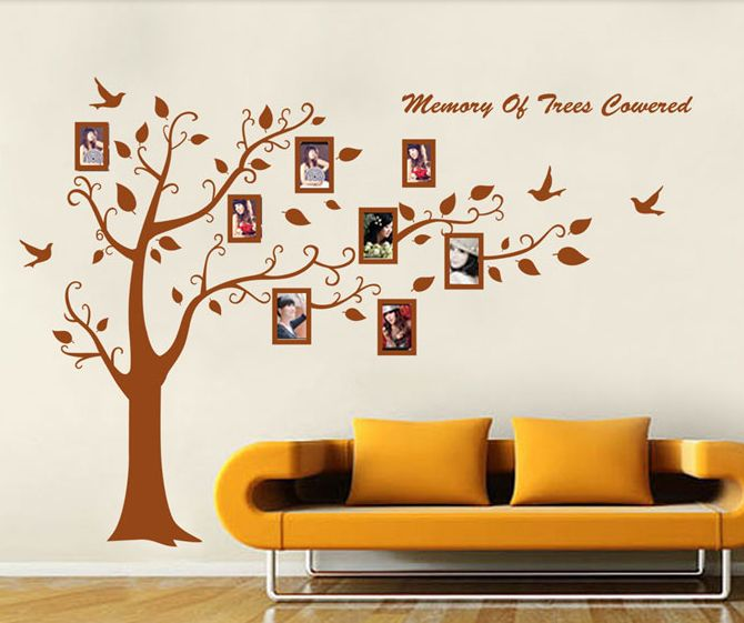 Memories lives forever with you.Make every moment special with SYGA wall stickers. Living room decoration ideas !!