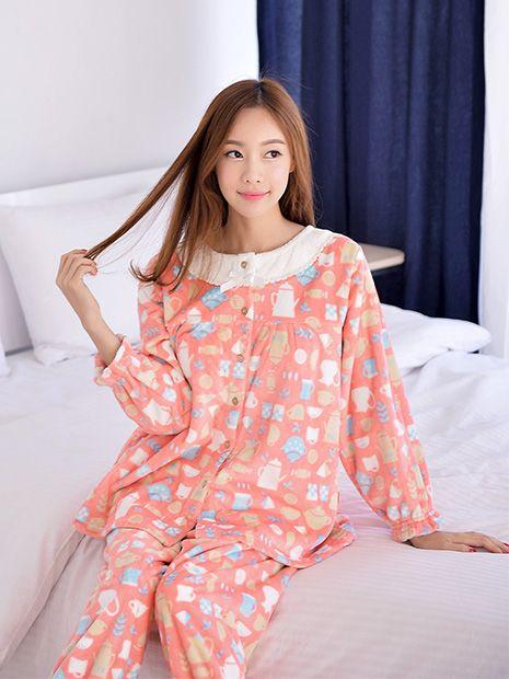 Banibella winter sleepwear / Juicy Kitchen Microfiber sleepwear / cozy and comfortable / winter pajamas