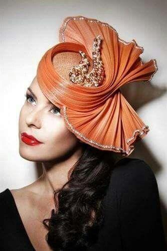 Peach Swirl Hat ....