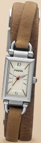 Fossil Delaney Leather Watch - Tan Fossil. $92.99. Mineral Crystal. 50 Meters / 165 Feet / 5 ATM Water Resistant. Analog Quartz Movement. 23mm Case Diameter
