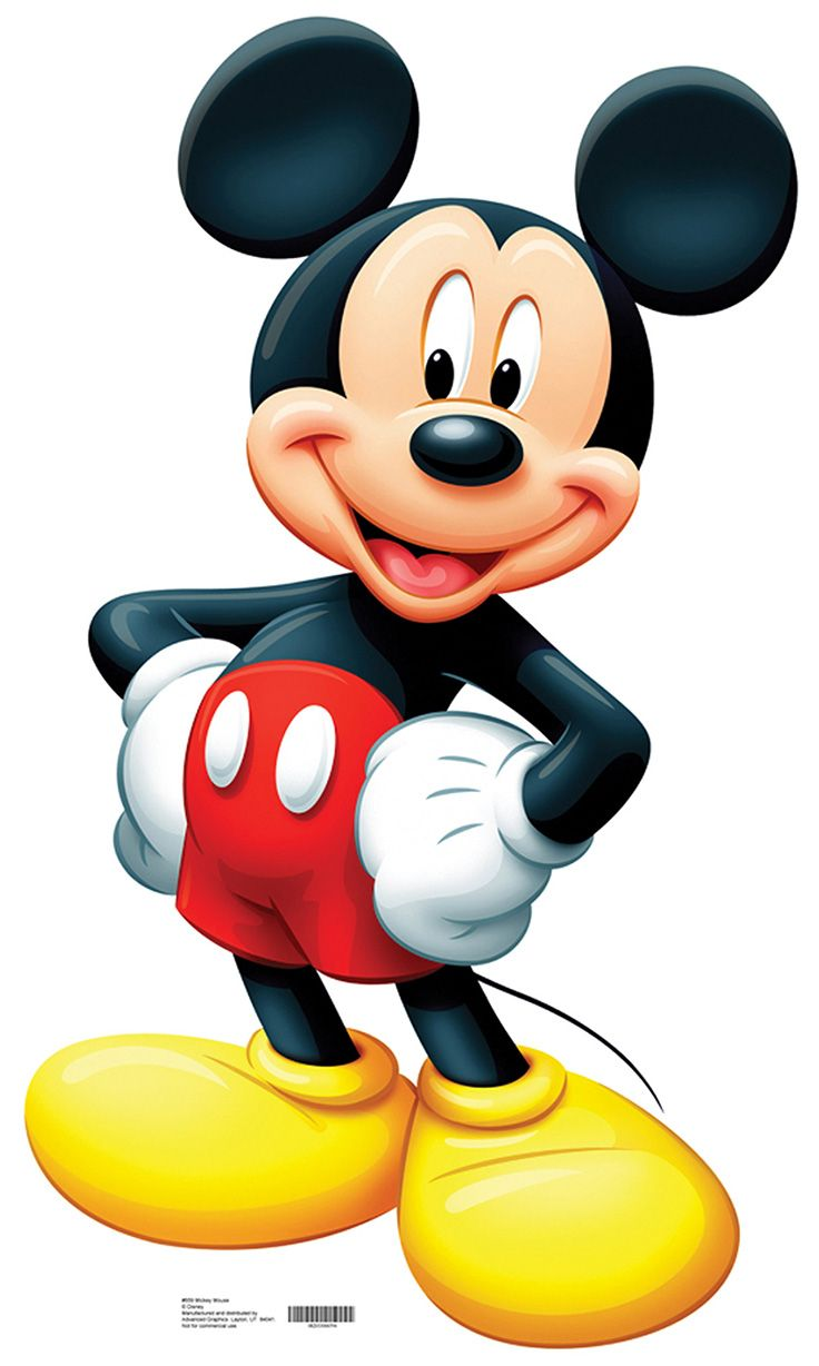 "MICKEY MOUSE Cardboard Cutout Standup / Standee from Disney | 42"" H x 24"" W 