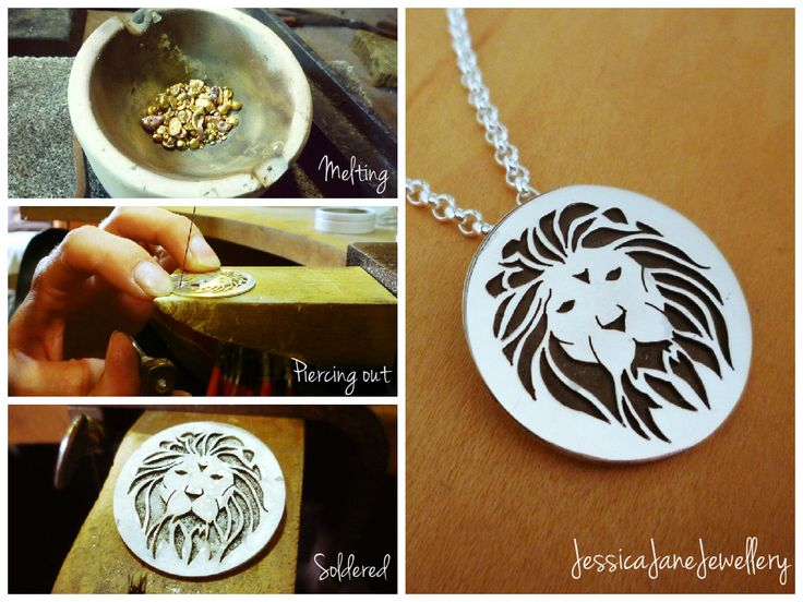 The basic Process of manufacturing this Sterling Silver Lion Pendant