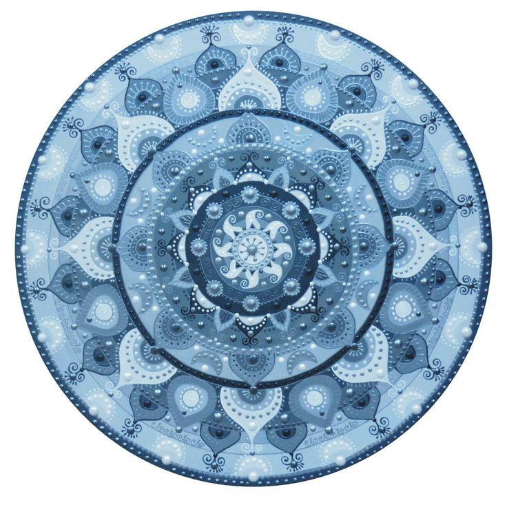szürke-ezüst Napmandala / grey-silver Sunmandala ( 50cm x50cm)