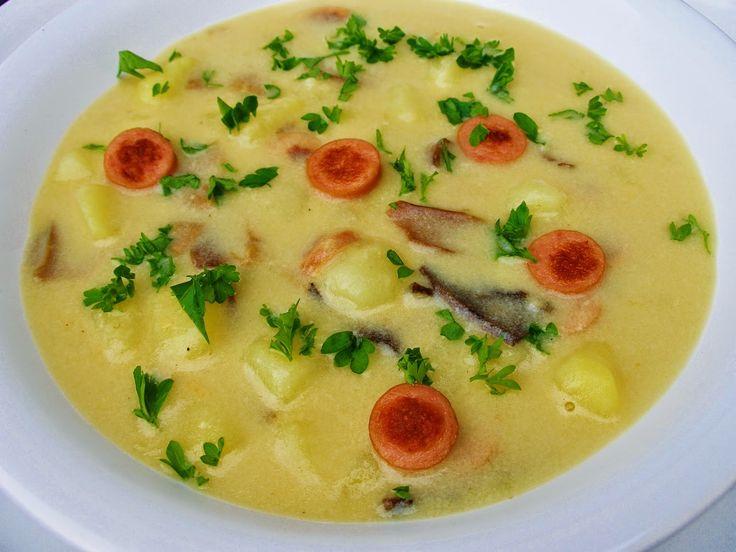 V kuchyni vždy otevřeno ...: Staročeská bramborová polévka s párkem