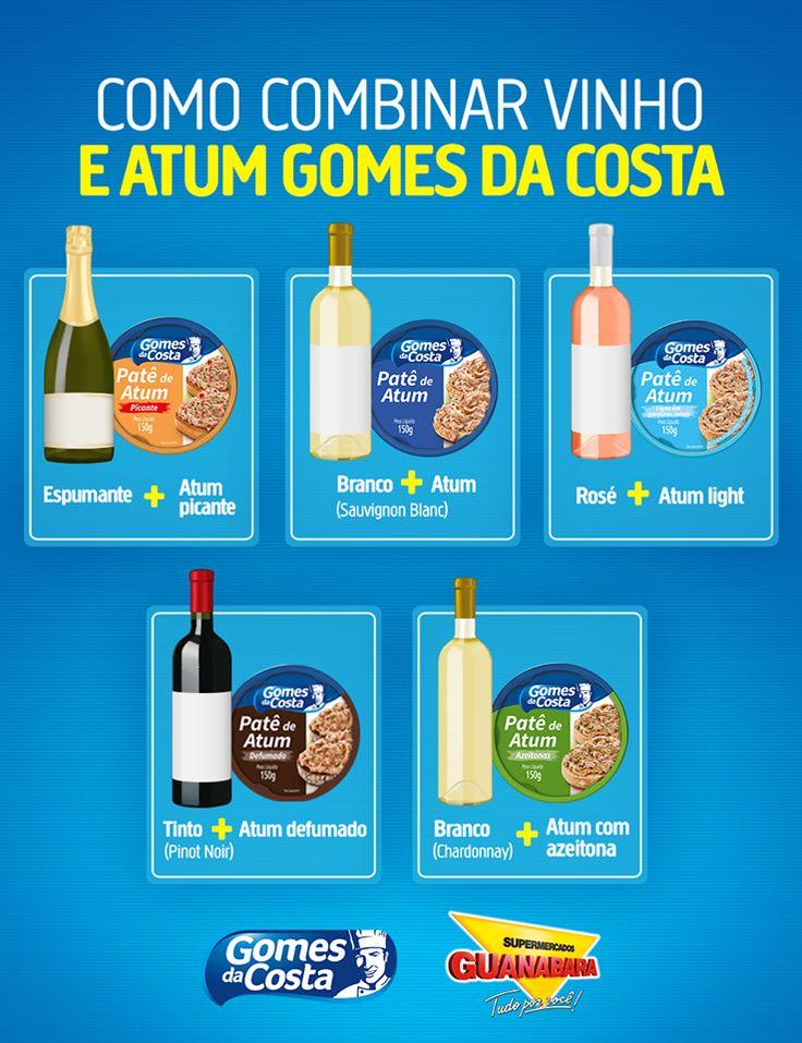 Que tal fazer entradinhas especiais de atum para o almoço de Páscoa? Veja como combinar os patês Gomes da Costa com vinhos! ;)