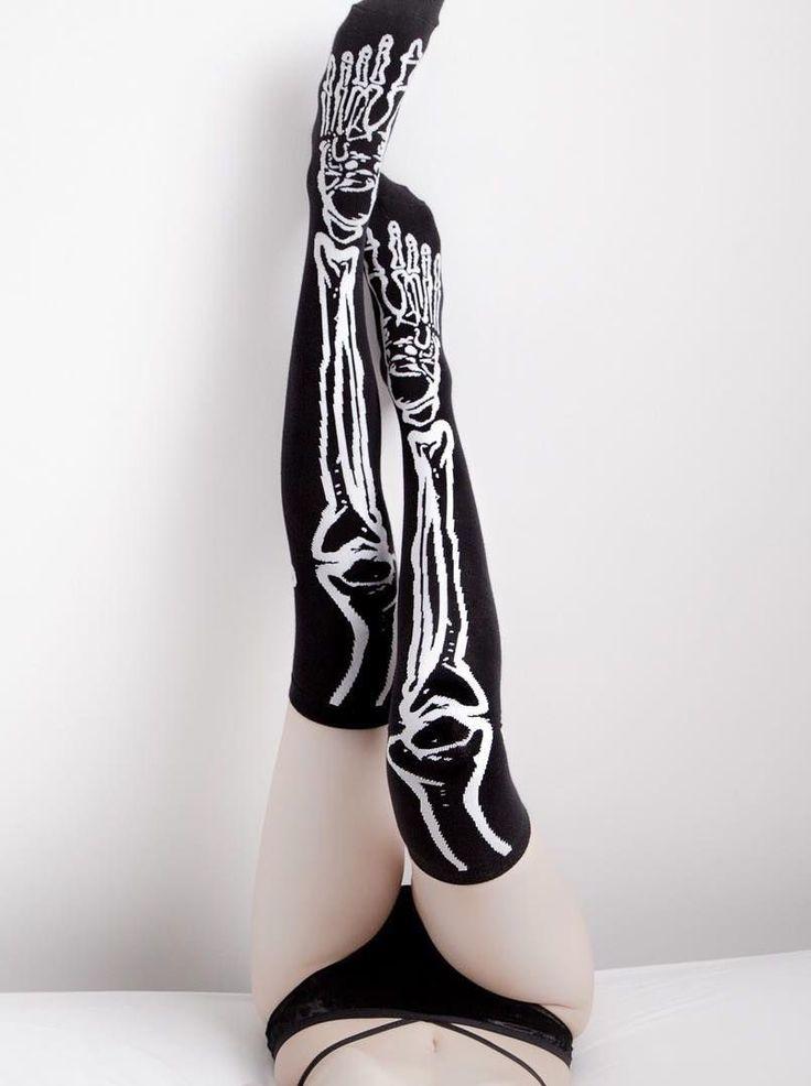 Killstar- Morgue Over The Knee Socks $18.00