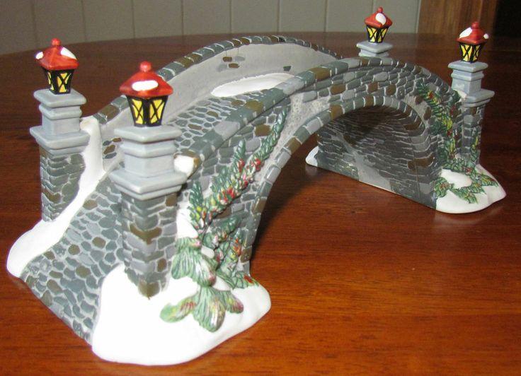 Ceramic Christmas Village Stone Bridge For Dept 56 Amp Lemax