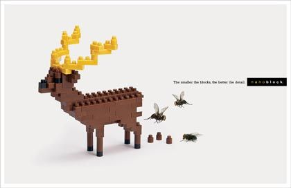 60  Awesome Advertising Posters With Unique Design Ideas   Design   Design Magazine: Nanoblocks Cerf, Idea, Deer Nanoblocks, Nanoblock Ad, Comète S Nanoblock, Ads, Advertising Posters, Design