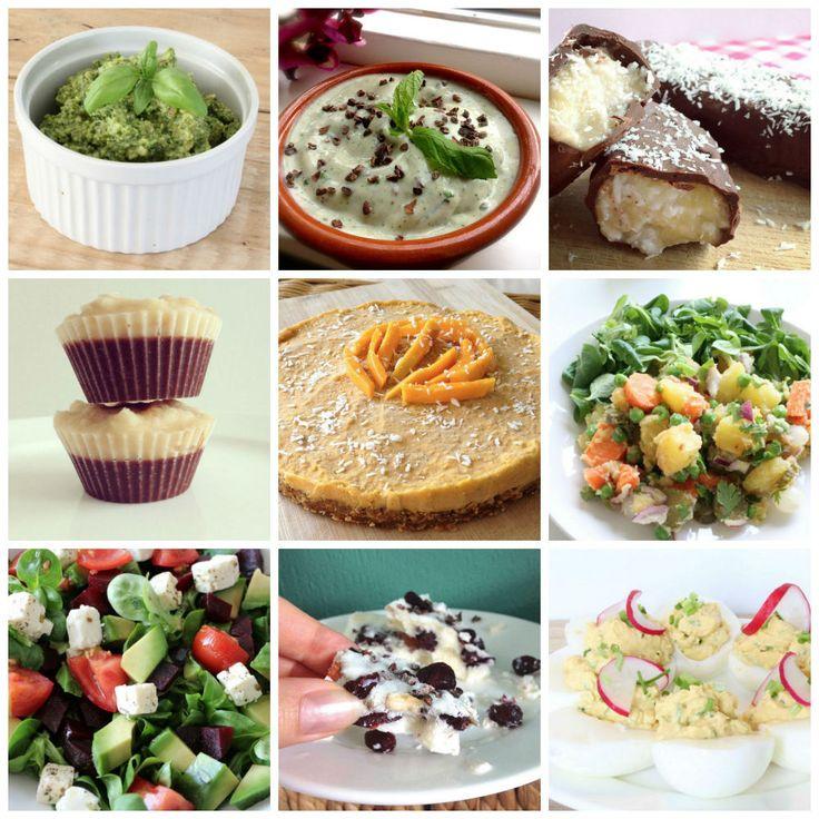 Vandaag deel ik geen nieuw recept maar geef ik jullie graag wat inspiratie! 12 Eet clean recepten die perfect passen bijeen warme zomer dag als vandaag  Geniet allemaal van het zonnetje! Lees je mee? Of deel jouw favoriete zomerrecept in de reacties! Lekker bij de BBQ: 1.Zelfgemaakte huzaren salade 2.Super snelle salade 3.Gevulde eieren …