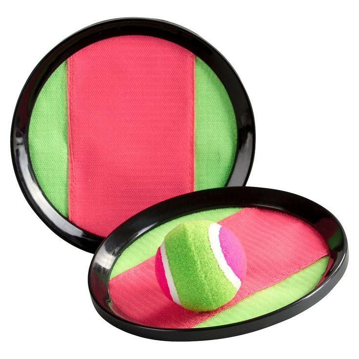 Klettball Fangspiel 3er-Set Kunststoff bunt ca. D:19 cm  Klettball Fangspiel Material: Kunststoff Farbe: bunt Maße Klettbrett: ca. D:19 cm Inhalt: 3er Set bestehend aus 2 Klettbrettern und 1 Klettball Gewicht: 235 g Egal ob für den See oder am Meer: Mit diesen Klettball haben Sie überall einen riesigen Spaß. Durch das Klettsystem kann der Ball mühelos gefangen werden und eignet sich somit als idealer Z...  4,99€