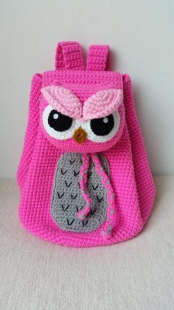 crochet backpack bag for kids