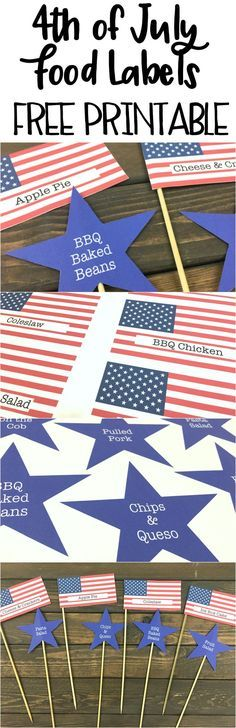 Wow FREE food labels for my BBQ! Awesome they will be perfect for our 4th of July Party.