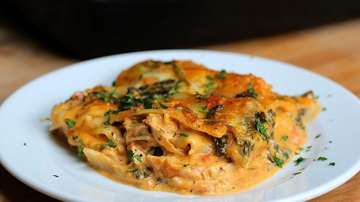 Creamy Tuscan Chicken Lasagna - Twisted