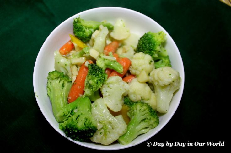Vegetable Medley with Garlic Butter Sauce