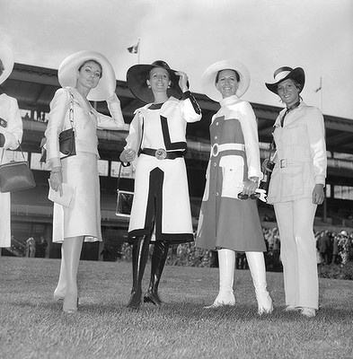 The winners of the Fashions in the Field, one of the highlights of the spring racing carnival, 1970 || FireHosiery - Leaders in Legwear Fashion - firehosiery.com