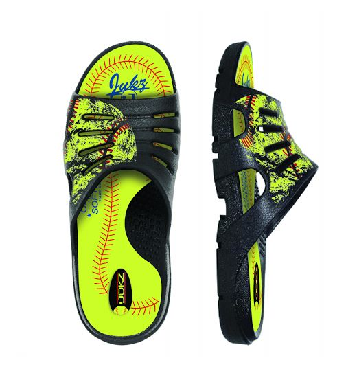 Softball Shoes made from ACTUAL SOFTBALL MATERIAL!  WE ALLOW YOU TO WEAR YOUR FAVORITE SPORT...