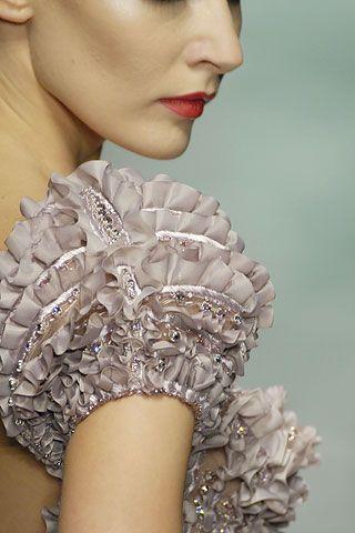 Details: Valentino, Haute Couture Fall/Winter 2007.  Valentino Garavani's final couture collection.