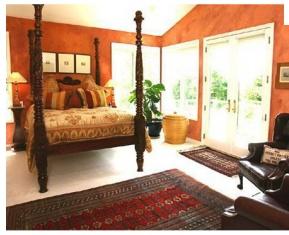 Burnt Orange Bedroom