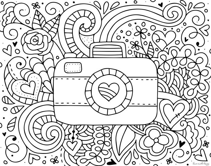Camera Coloring Page Coloring Pages Coloring Books Color