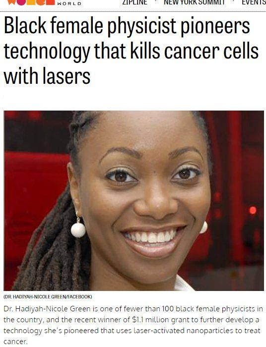 This is the second black person I've heard of who is on the verge of curing cancer