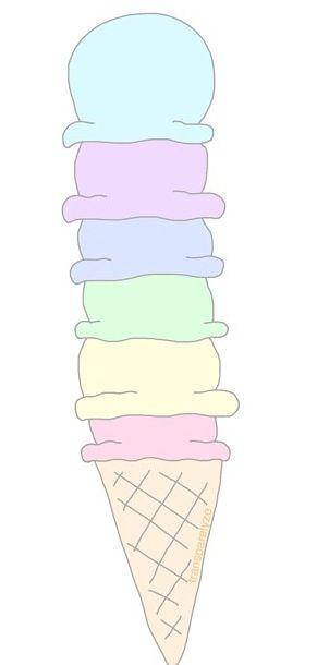 Ice cream transparents..