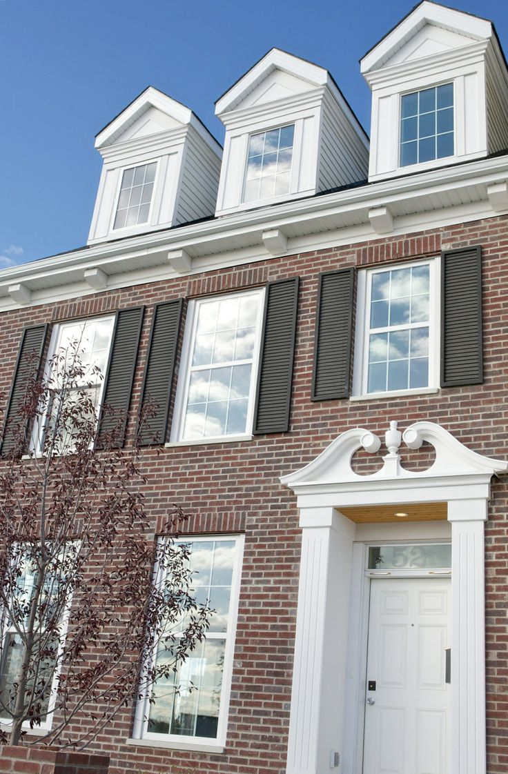 42 best images about we create great exteriors on for Colonial brick