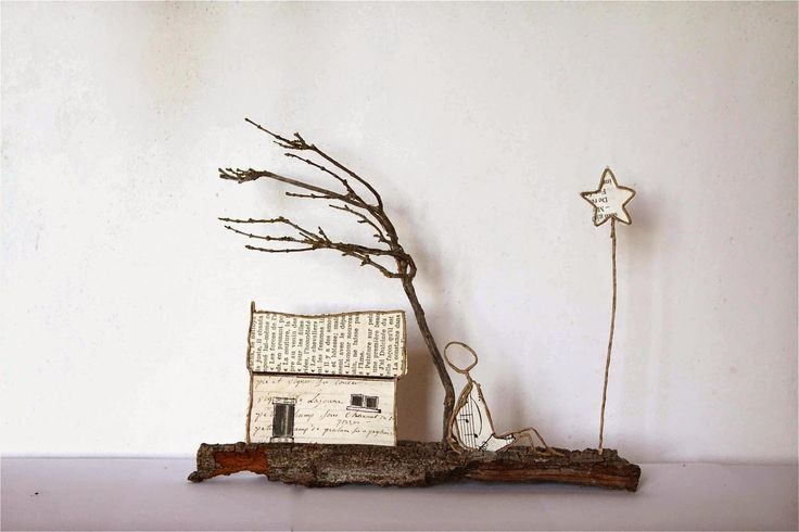 Provence maison en d coupe de papier coll e sous du for Art jardin creation