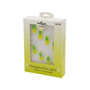 Flexible LED Lights Yellow Pineapples 5 Feet (Set of 15) - Brilliant Ideas