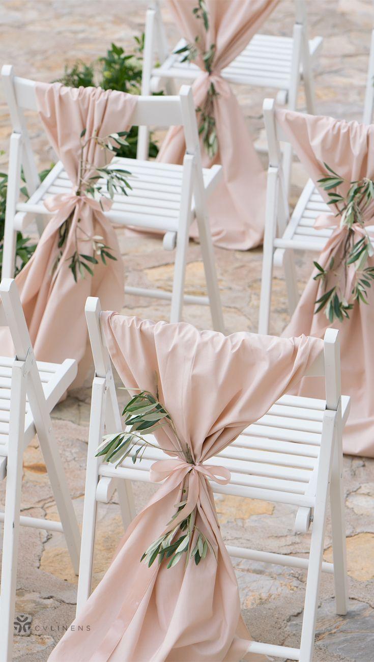 Lamour Satin Table Runner Blush Rose Gold Wedding Chair