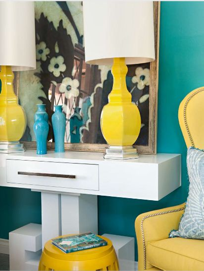 I've moved on from my decade long love of orange and am now obsessed with all things turquoise and/or yellow.