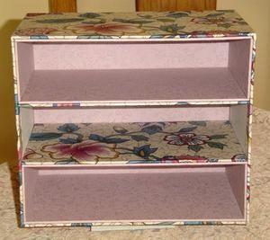 Pas à pas : petit meuble trois tiroirs (3) ... - Cartonnage et compagnie !!!