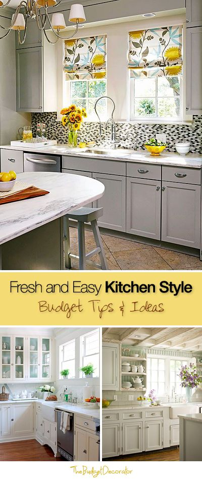 Fresh and Easy Kitchen Style • Budget tips and ideas!