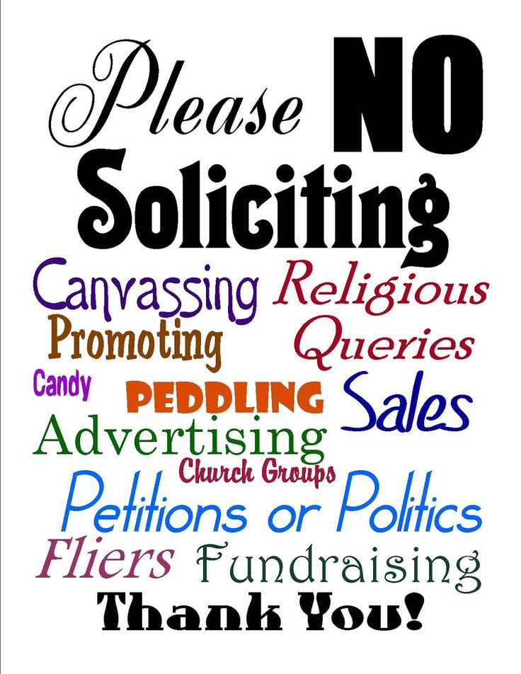 It's just an image of Punchy Free Printable No Soliciting Sign