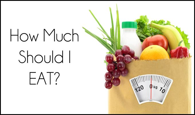 How much food should I eat each day?