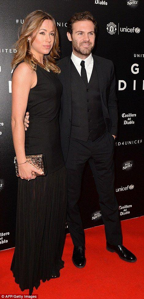Juan Mata with partnerEvelina Kamph...