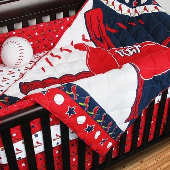 Use this Exclusive coupon code: PINFIVE to receive an additional 5% off the St. Louis Cardinals Baby Crib Bedding Set at SportsFansPlus.com