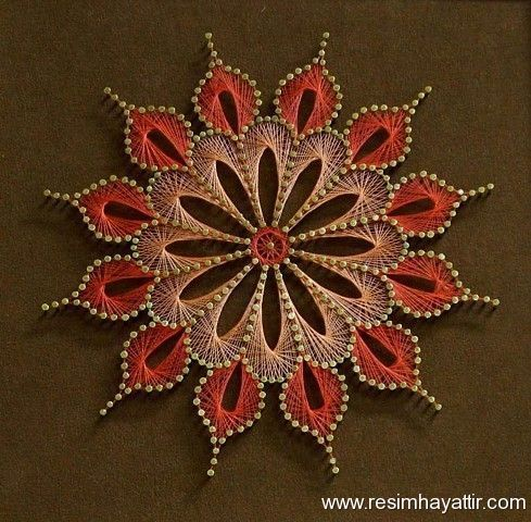 364 best images about string art on pinterest nail string art stitching and bakers twine - String art modele ...
