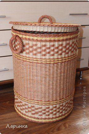 Поделка изделие Плетение Моя первая работа Трубочки бумажные фото 2