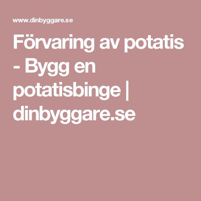 Förvaring av potatis - Bygg en potatisbinge | dinbyggare.se
