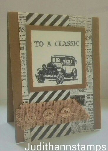 Happy Fathers day card made with the Stampin' Up Guy Greetings stamp set....