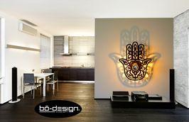 Lighting concept designer Innovative concept with shadow on the wall - hamsa model lighting wall design